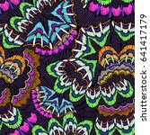 psychedelic abstract design in... | Shutterstock .eps vector #641417179
