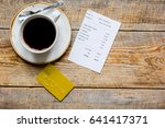 credit card for paying  coffee...   Shutterstock . vector #641417371