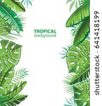 tropical leaves. background... | Shutterstock .eps vector #641418199