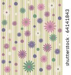 seamless pattern with flowers ... | Shutterstock .eps vector #64141843