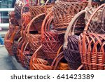 wicker is made from bamboo and... | Shutterstock . vector #641423389