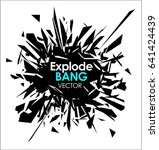 abstract slow motion explode... | Shutterstock .eps vector #641424439