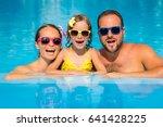 happy family having fun on... | Shutterstock . vector #641428225