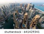 dubai skyline  skyscrapers.... | Shutterstock . vector #641429341