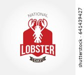 National Lobster Day Vector...