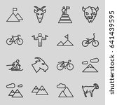 mountain icons set. set of 16... | Shutterstock .eps vector #641439595
