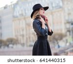portrait of the charming blonde ... | Shutterstock . vector #641440315