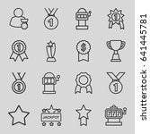 prize icons set. set of 16...   Shutterstock .eps vector #641445781