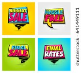 vector illustration hassle free ... | Shutterstock .eps vector #641449111