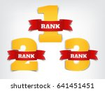 a set of numeric ranks with red ... | Shutterstock .eps vector #641451451