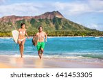 happy surf people having fun... | Shutterstock . vector #641453305
