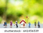 miniature people standing with...   Shutterstock . vector #641456539