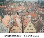 aerial view of rothenburg ob... | Shutterstock . vector #641459611