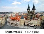 prague  old town square | Shutterstock . vector #64146100