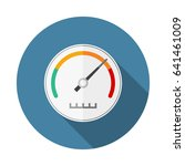 speedometer flat icon with long ... | Shutterstock .eps vector #641461009