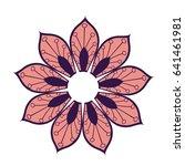 mandala decoration spiritual... | Shutterstock .eps vector #641461981