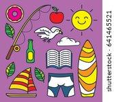 summer icon illustration in... | Shutterstock .eps vector #641465521