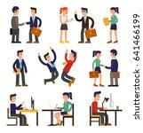 nine illustrations of cartoon...   Shutterstock .eps vector #641466199