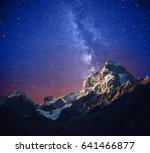 beautiful starry night and... | Shutterstock . vector #641466877