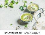spring broccoli green cream... | Shutterstock . vector #641468074