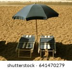 beach and umbrellas | Shutterstock . vector #641470279