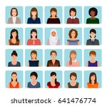 avatars characters set of... | Shutterstock .eps vector #641476774