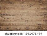 wooden table top view rustic... | Shutterstock . vector #641478499