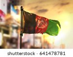 Afghanistan Flag Against City...