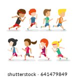 athletes running in competition ... | Shutterstock .eps vector #641479849