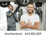 young handsome male car owner... | Shutterstock . vector #641481289