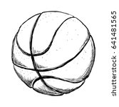 basketball ball equipment | Shutterstock .eps vector #641481565
