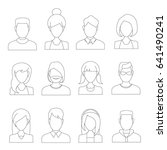 people icons  thin line style ... | Shutterstock .eps vector #641490241