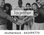 together teamwork message box... | Shutterstock . vector #641494774