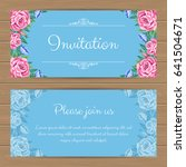 wedding invitation template...   Shutterstock .eps vector #641504671