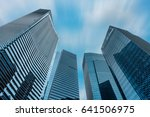 tower of business and central... | Shutterstock . vector #641506975