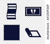 mat icons set. set of 4 mat... | Shutterstock .eps vector #641509369