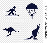 jump icons set. set of 4 jump... | Shutterstock .eps vector #641510047