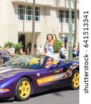 Small photo of Honolulu, Hawaii, USA - May 30, 2016: Waikiki Memorial Day Parade - Miss Aloha State