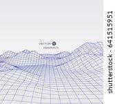 abstract digital landscape.... | Shutterstock .eps vector #641515951