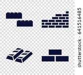 brick icons set. set of 4 brick ... | Shutterstock .eps vector #641516485