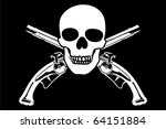 jolly roger on black background ... | Shutterstock .eps vector #64151884