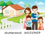 father  mother  son and... | Shutterstock .eps vector #641519659