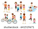 set of family with various... | Shutterstock .eps vector #641519671