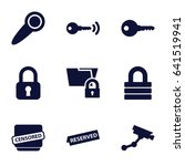 private icons set. set of 9... | Shutterstock .eps vector #641519941