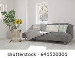 white room with sofa and winter ... | Shutterstock . vector #641520301