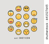 emoticon set for chatbox  | Shutterstock .eps vector #641527645