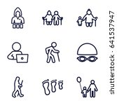 adult icons set. set of 9 adult ... | Shutterstock .eps vector #641537947