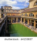 Roman Baths  Bath  Somerset  U...