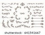 set collection of vintage... | Shutterstock .eps vector #641541667