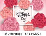 mother's day greeting card with ... | Shutterstock .eps vector #641542027